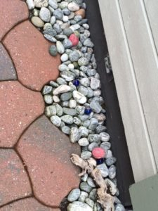 ノルウェーのホストファミリーの家の石