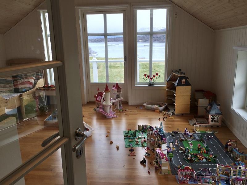 ノルウェーの子供の遊ぶ部屋