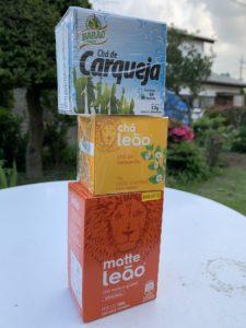 ・ブラジル食品店にてお茶を購入(私の住む市は隠れ国際都市)